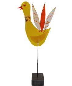 Fused glass art Yellow bird