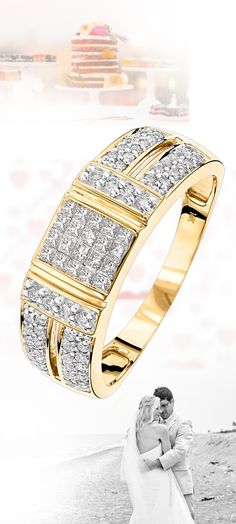 This remarkable Gold Diamond Ring with Round Princess Diamonds weighs approximately 5 grams and features ctw of invisibly set princess cut diamonds and pave set round diamonds. This fabulous unisex diamond ring makes a unique diamond wedding band Diamond Bands, Diamond Wedding Bands, Diamond Jewelry, Pandora, Love Ring, Princess Cut Diamonds, Beautiful Rings, Colored Diamonds, Round Diamonds