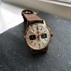 Vintage manual wound chronographs are steadily rising in value and will continue to do so, panda dial examples with Swiss Valjoux Movements are also some of the most desirable watches within the vintage watch world. Save The Pandas, Breitling Watches, Watch Case, Emperor, Vintage Watches, About Uk, Chronograph, Brown Leather, Accessories