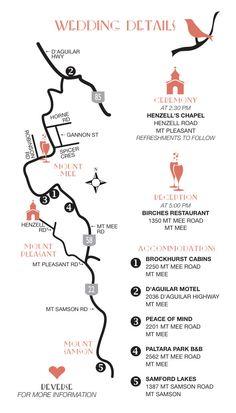 Custom Wedding Map Printable DIY digital PDF. $65.00, via Etsy.