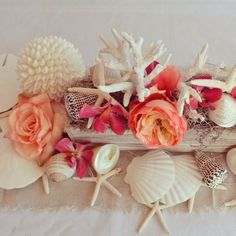 Beach Wedding Decoration Ideas | Shells | Afloral