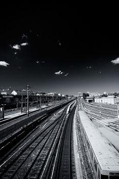 Spittelau, Vienna Vienna, Railroad Tracks, Scrapbook, Explore, Scrapbooking, Train Tracks, Exploring, Guest Books, Scrapbooks