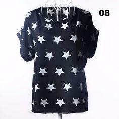 Batwing Sleeve Women Blouses Clothing Casual Chiffon Shirt Blusas Tops Heart Animal Stripe Leopard Print Pattern Plus size