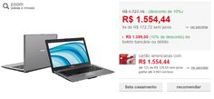 "Notebook Positivo Premium XRI7150 Intel Core i3 4GB 500GB Tela LED 14"" Linux >"