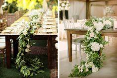 Caminos para decorar las mesas de la boda #Bodas #ElBlogdeMaríaJosé #Caminos…