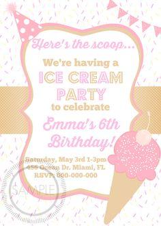 Ice Cream Social / Birthday Party by MyPrettyPartyShoppe on Etsy, $7.99