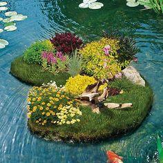 Pflanzinsel, groß für Teichbepflanzung - Teichzubehör & Teichpflege