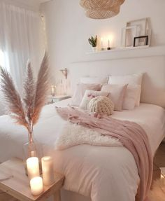 45 Cozy Teen Girl Bedroom Design Trends for 2019 Page 33 of 45 Cozy bedroom; The post 45 Cozy Teen Girl Bedroom Design Trends for 2019 Page 33 of 45 appeared first on Bedroom ideas. Home Decor Bedroom, Living Room Decor, Diy Bedroom, Blush Bedroom Decor, Blush Pink Bedroom, Bedroom Furniture, Pink Room, Bedroom Lamps, Bedroom Candles