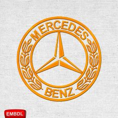 Mercedes Benz- Embroidery Design Instant Download #EmbroideryDownloadCom