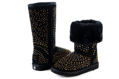 UGG Boots 3042 Studded Boots Tall Black AAA, #ChristmasGifts, #GiftIdeas, #NewYearOutfit, #Wholesale, #Cheap, #Discount, #WinterOutfit, #2014fashion, #Womens, #Kids, #Mens, #UGG, #Boots