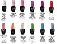 Image result for opi gel nail colours