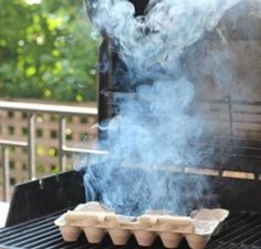 Tricks to get rid of bugs at your BBQ - Mosquitoes - burn cardboard in a safe place and it works just like a mosquito coil with zero the cost
