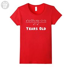 Women's 21 Years Old Algebra Equation Funny 21st Birthday Math Shirt Small Red - Birthday shirts (*Amazon Partner-Link)