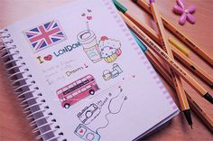 #British #England #Notebook #London #Red #Bus #Food #Ipod