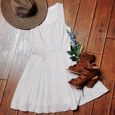 Dress up the Soft White Linen Dress with the Suede Gladiator Sandal or dress it down with flats! Either way, we love this dress- #lizardthicket #lizardthicketboutique #love #dresses #newarrivals #ootd #lotd #style #LTStyle #LTGirls