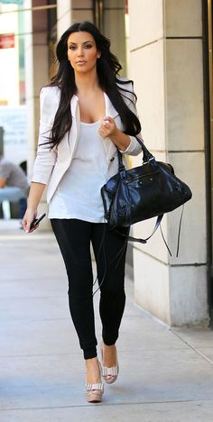love kim kardashian's style in particular her shoes :-)