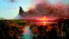 """Frederic Edwin Church painted """"Cotopaxi"""" in 1862. Although it is not specifically about the Civil War, it is a landscape suffused with it."""