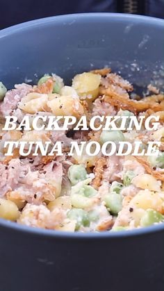Hiking Discover Camp Recipe: Tuna Noodle Casserole Crunchy fried onions noodles in a creamy sauce and protein-heavy tuna: enjoy a slice of classic Americana cooking in the backcountry with this Tuna Noodle Casserole. Best Backpacking Food, Hiking Food, Camping Meals, Ultralight Backpacking, Tent Camping, Camping Dishes, Camping Cooking, Camping Checklist, Hiking Tips