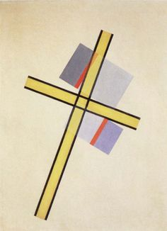 Laszlo Moholy-Nagy, Yellow Cross Q.7, 1922
