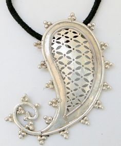 925 sterling silver Mango Paisley shape pendant by TRIBALEXPORT, $295.00