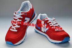 New Balance 574 WL574YRD Red White Blue