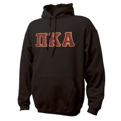 Campus Classics - On Sale! Pike Black Hoodie with Sewn On Greek Letters: $38.95