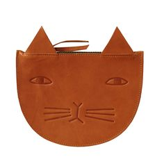 Donna Wilson - Mog Leather Zip Pouch