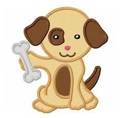 Puppy Applique Machine Embroidery Design by LovelyStitchesDesign