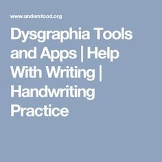 Find out how to make the writing process easier for kids with dysgraphia. Pencil grips, graphic organizers, apps and more can make it easier to write. Handwriting Analysis, Cursive Handwriting, Handwriting Practice, Writing Resources, Writing Help, Essay Writing, Dyslexia Teaching, Handwriting Activities, Dysgraphia