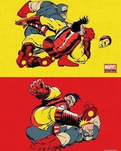 A little Civil War action a la Dark Knight Returns  Please advise the artist name   Download at nomoremutants-com.tumblr.com   #marvelcomics #Comics #marvel #comicbooks #avengers #captainamericacivilwar #xmen #xmenapocalypse  #captainamerica #ironman #thor #hulk #hawkeye #blackwidow #spiderman #vision #scarletwitch #civilwar #spiderman #infinitygauntlet #blackpanther #guardiansofthegalaxy #deadpool #wolverine #daredevil #drstrange #infinitywar #thanos #magneto #cyclops http://ift.tt/2cUXE3W