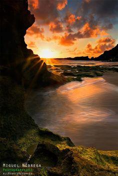 Calheta Beach Sunset Porto Santo Island - Madeira Island Portugal.... #Relax more with healing sounds: