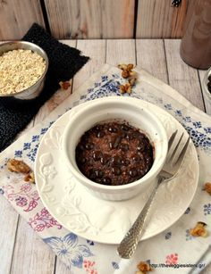 Tomorrow wake up and make this delicious banana choccolate muffin! The best way to start the day! What Recipe, Vegan Snacks, Vegan Food, Sweets Cake, Vegan Breakfast, Chocolate Fondue, Muffin, Brunch, Banana