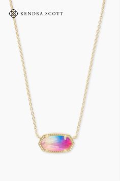 A dainty stone and delicate metallic chain combine to create the Elisa Pendant Necklace in Gold, your new favorite wear-anywhere accessory. This pendant necklace can be paired with any ensemble, giving you extra class and style. Make the Elisa Pendant Necklace a staple in your wardrobe and you won't be disappointed.