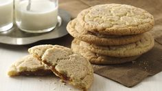 Dulce de leche is the secret ingredient that gives these cookies their gooey hidden center.