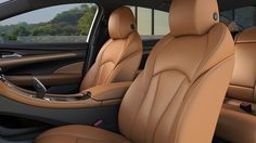 Photo showing available perforated leather-appointed heated and ventilated driver- and front-passenger seats in the 2017 LaCrosse sedan. Buick 2017, Buick Lacrosse, Car Seats, Bike, Cars, Luxury, Vehicles, Leather, Bicycle