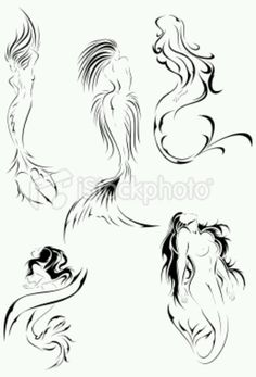 Mermaid tattoo inspirations top right for shape but looking this way