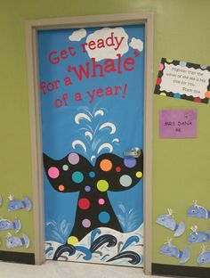 Whale tail 4k door decoration