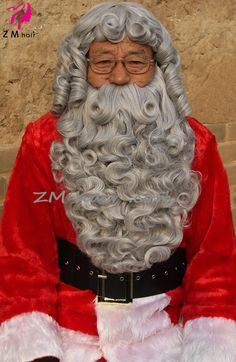 Santa Claus White Mustache Only 004 Yak Christmas Laceys Wigs