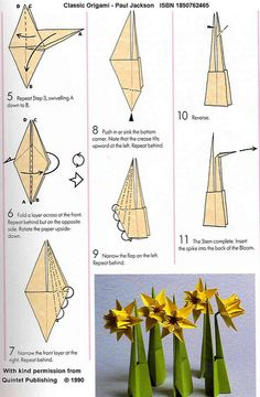 Origami Daffodil Page 4   Quintet Publishing Limited, 6 Blun…   Flickr