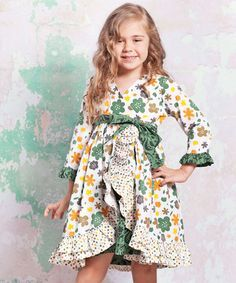Take a look at this Green & Yellow Monaco Jordan Dress - Infant, Toddler & Girls by Jelly the Pug on #zulily today!