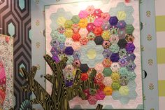 Tula Pink's Slow and Steady Collection at #quiltmarket #ctdoesquiltmarket