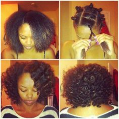 Bantu Knot out. on relaxed hair Pelo Natural, Natural Hair Tips, Natural Hair Journey, Natural Hair Styles, Going Natural, Bantu Knot Out, My Hairstyle, Cool Hairstyles, Pelo Afro