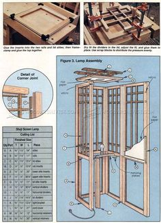 #3007 Shoji Screen Lamp Plans - Woodworking Plans