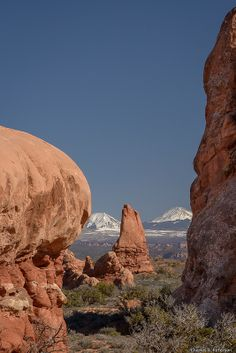 La Sal Mountains from Arches National Park - Utah