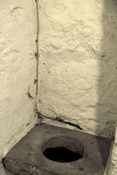 Bunratty Folk Park - Site #4 - Castle - Toilet in Tower by Sue Mischyshyn, via Geograph