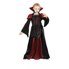 Transform her into a blood thirsty gothic vampire and she will look the most sophisticated trick or treating in our deluxe quality Girls� Deluxe Scary Vampiress Halloween fancy dress costume. Description from megafancydress.co.uk. I searched for this on bing.com/images