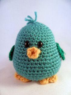 Piichii the little bird amigurumi crochet pattern by Pii_Chii