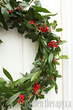 Green and Red Berry Wreath