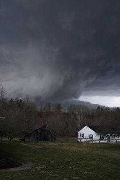 Photo taken by local optometrist of devastating tornado that destroyed much of the town of West Liberty KY