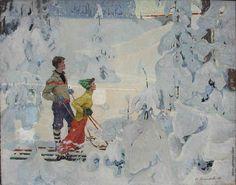Мазитов Амир Нуриахметович [1928—1992] Зимняя сказка. 1960